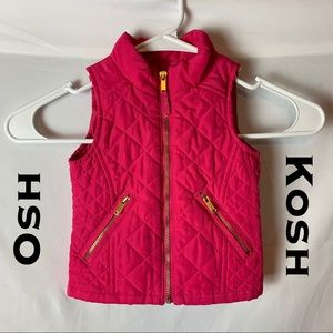 Osh Kosh Hot Pink Vest Jacket